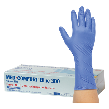 aaaBLUE-COMFORT 300 Nitril-Untersuchungshandschuhe puderfrei (50-160)