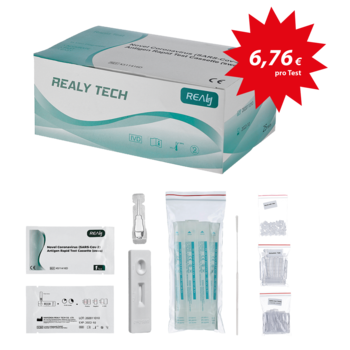 aaaCorona-Schnelltest / COVID-19-Test Realy Tech SARS-CoV-2, Kit mit 25 Tests (09204)